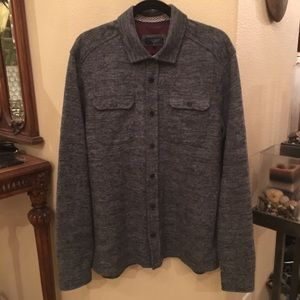 TED BAKER Chelts Herringbone Shirt Size 6(2XL)